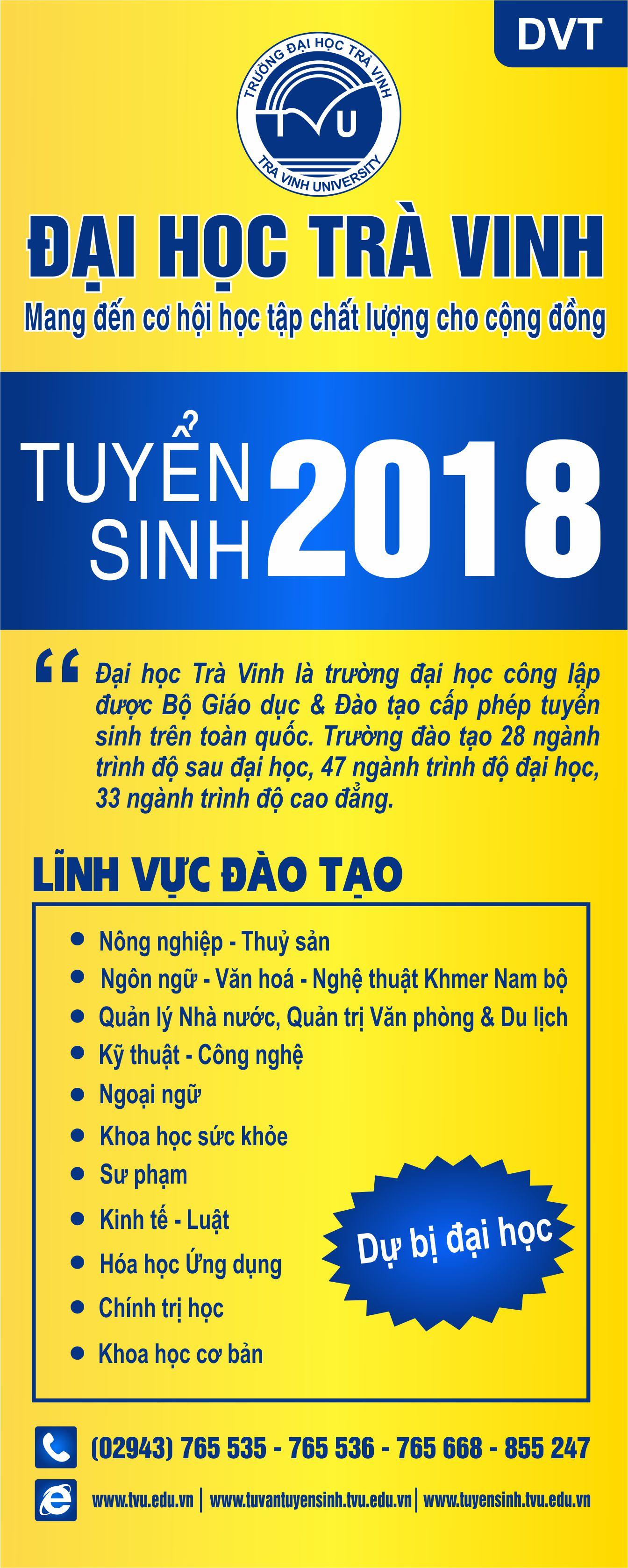 Đại học Trà Vinh tuyển sinh 2018